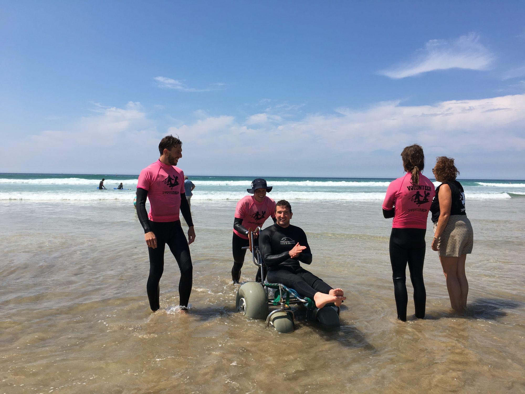 Darren Edwards with surf volunteers