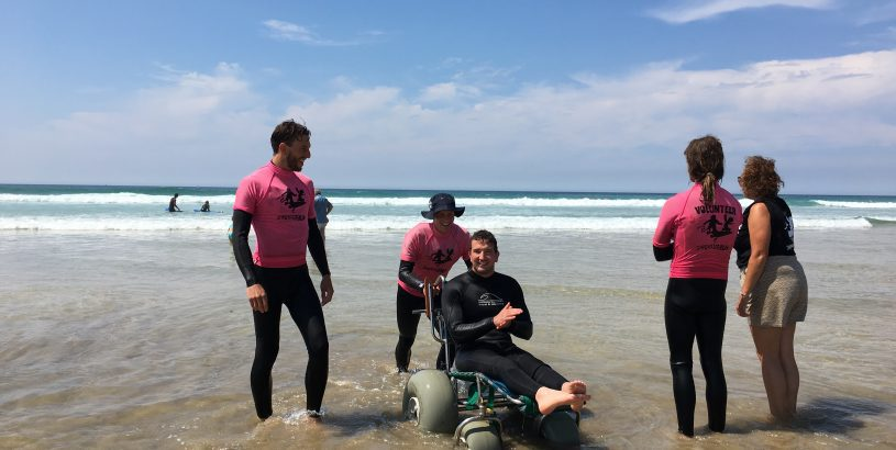Darren Edwards with surf volunteers