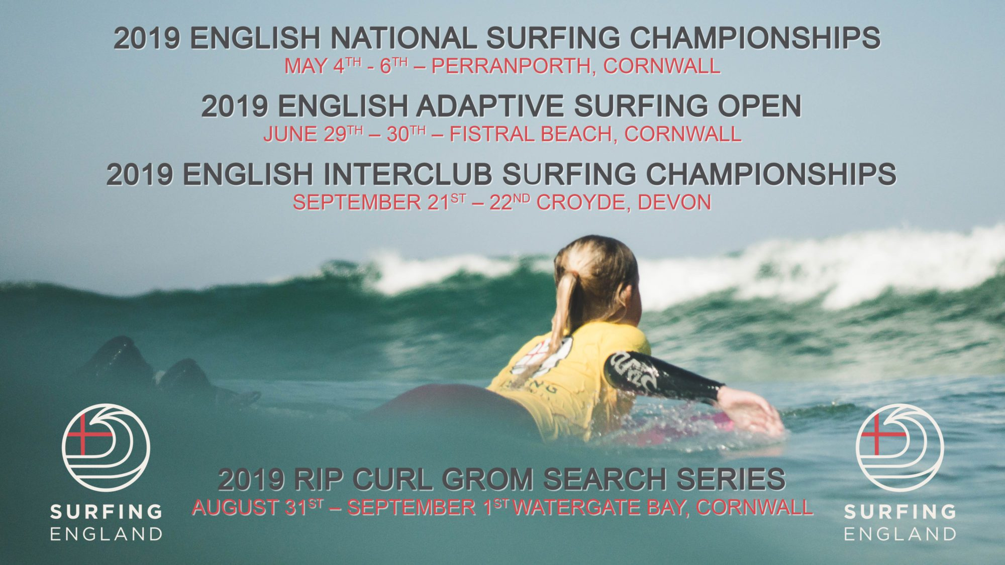Surfing England 2019 events