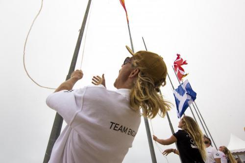 EuroSurf 2019 - Jayce Robinson winning the Flag Race