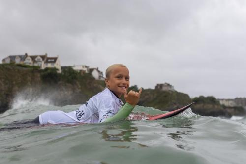 Dylan Leo Robinson showing the stoke that Grom Search is now famous for