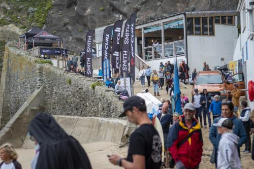 Great Western Beach, Newquay scene for the start of the UK. GromSearch Series