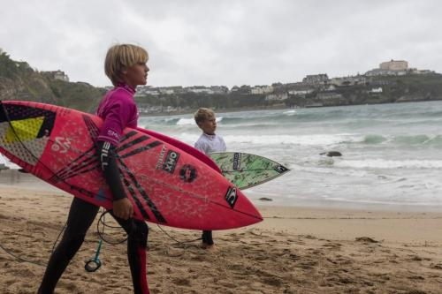 Great Western tucked right in Newquay Bay provided a bgreat venue to kick off the Grom Search series in the UK