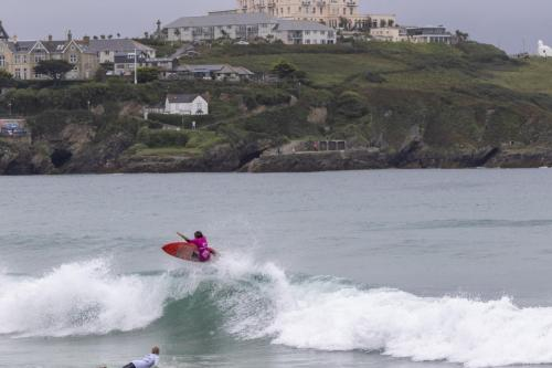 Reen Bowden-Inoue boosting with Newquay as the perfect backdrop