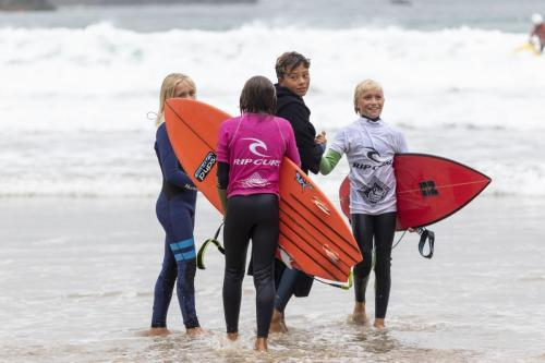 Stoked groms on hearing their results