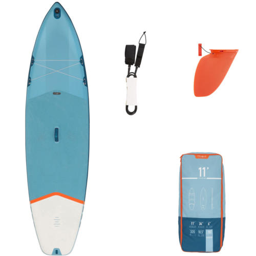 INFLATABLE TOURING STAND-UP PADDLEBOARD 11 FEET.